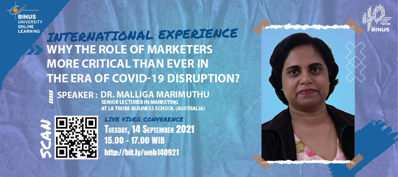 International Experience:Why The Role of Marketers More Critical Than Ever In The Era of Covid-19 Disruption?