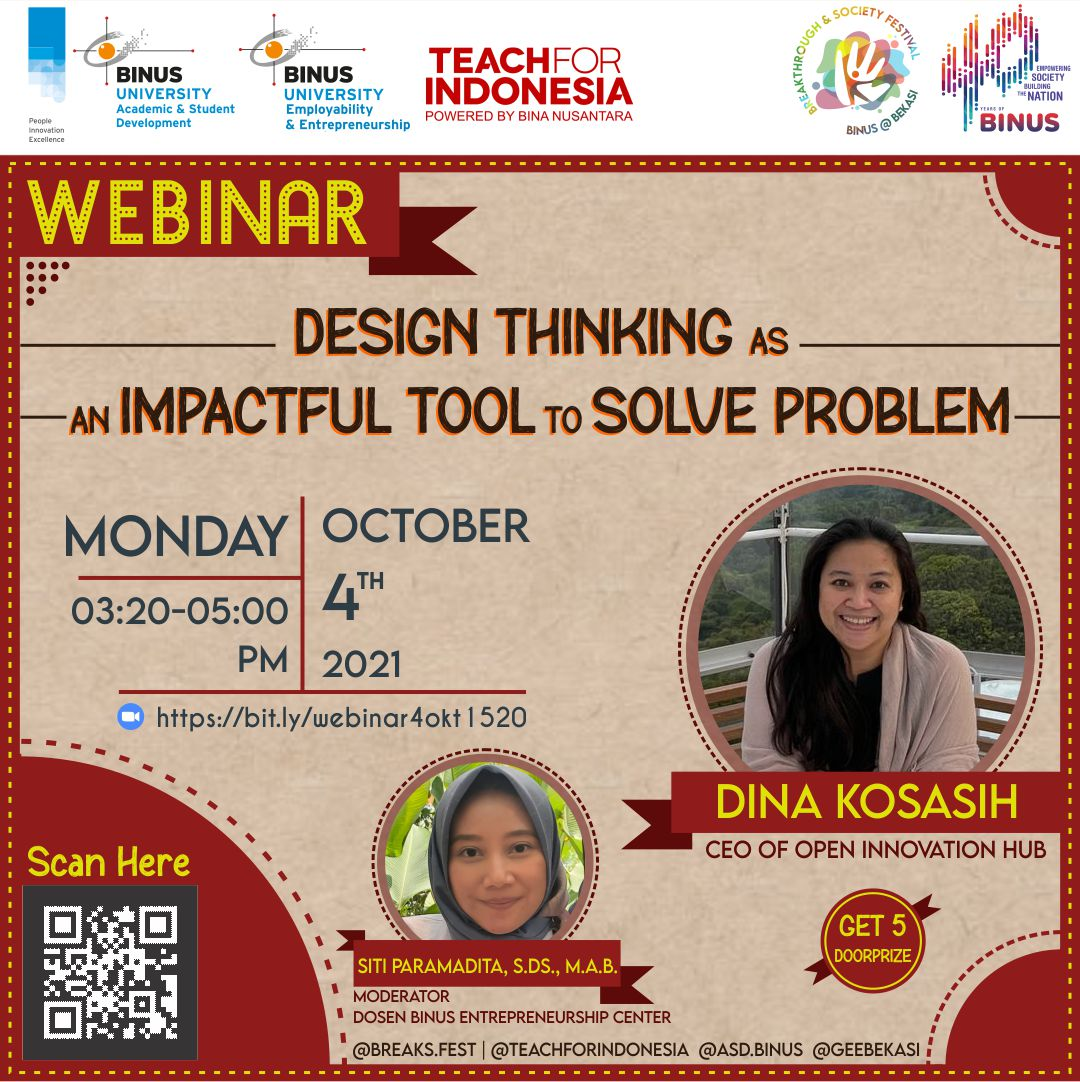 Webinar Design Thinking as an Impactful Tool to Solve Problem