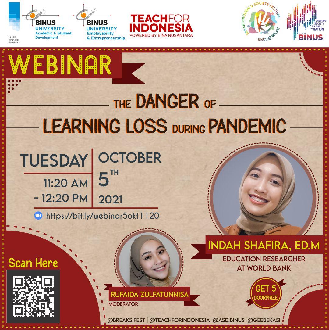 Webinar The Danger of Learning Loss During Pandemic