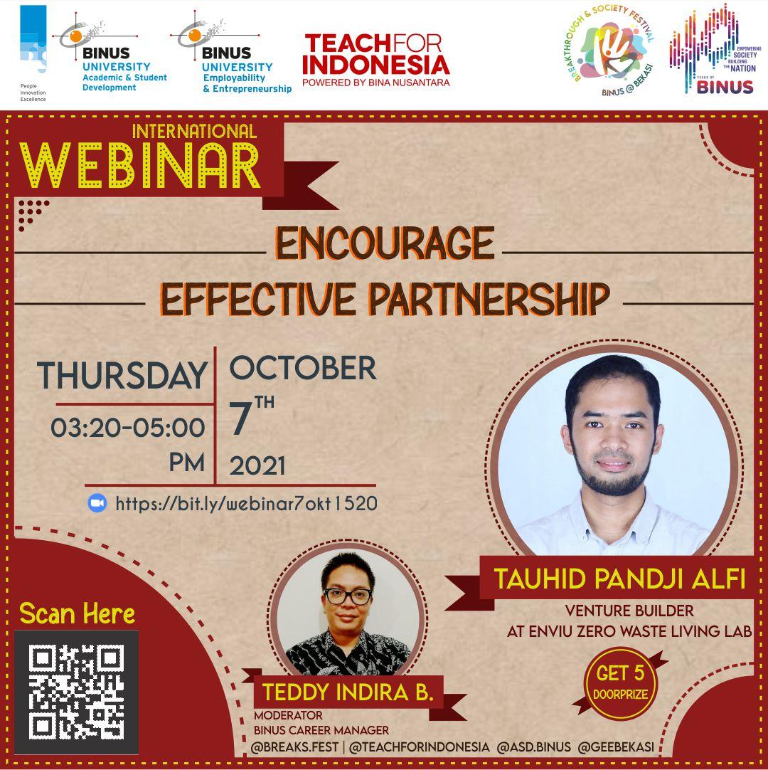 Webinar Encourage Strategic Partnership