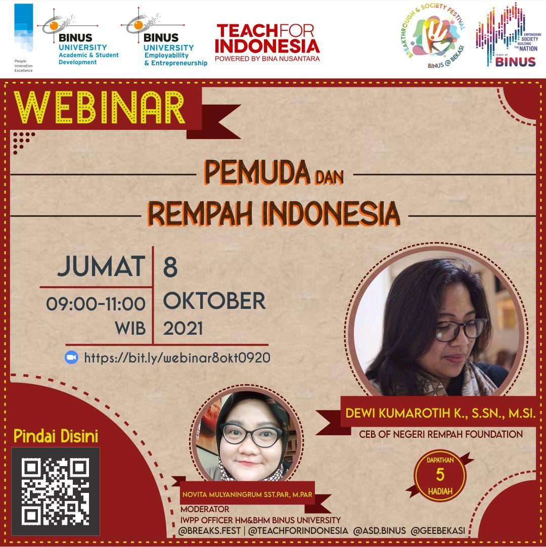 Webinar Pemuda & Rempah Indonesia
